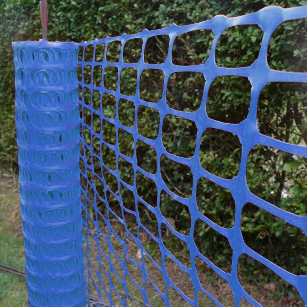 GroundMaster Plastic Mesh Barrier Safety Fence Gardening Pest Protection 10m, Green