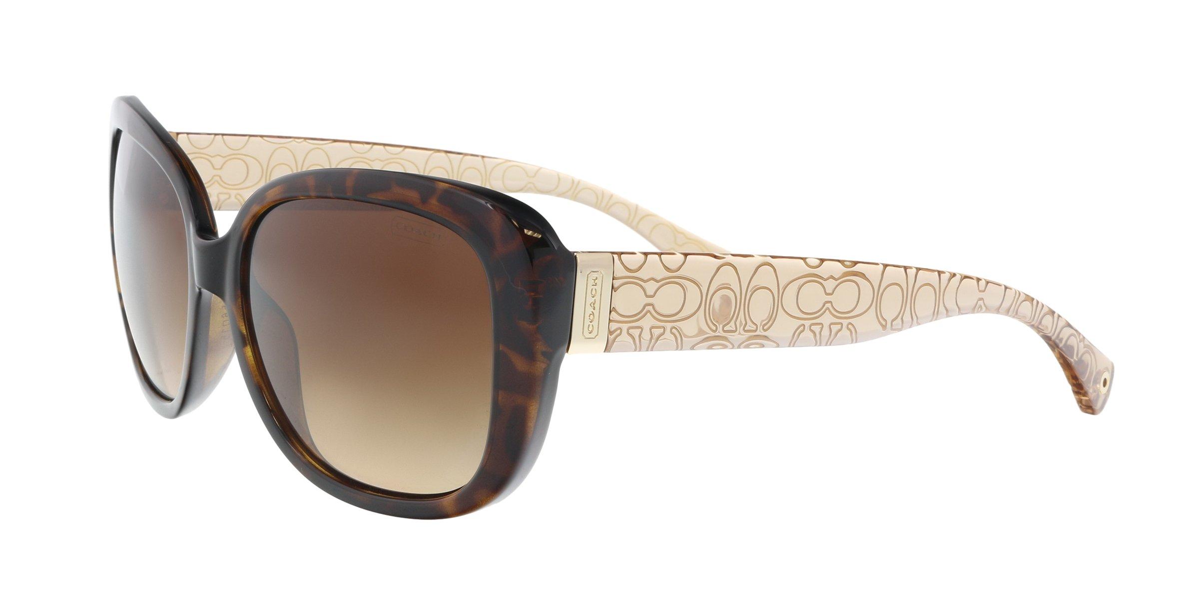 Coach HC8076 L067 Laurin Sunglasses 515213 Dark Tortoise/Brown Crystal Brown Gradient 56 15 135