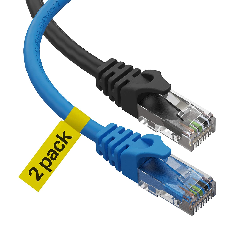 Black Box 3 CAT6 550-MHz Ethernet Patch Cable UTP CM BL 25 Pack