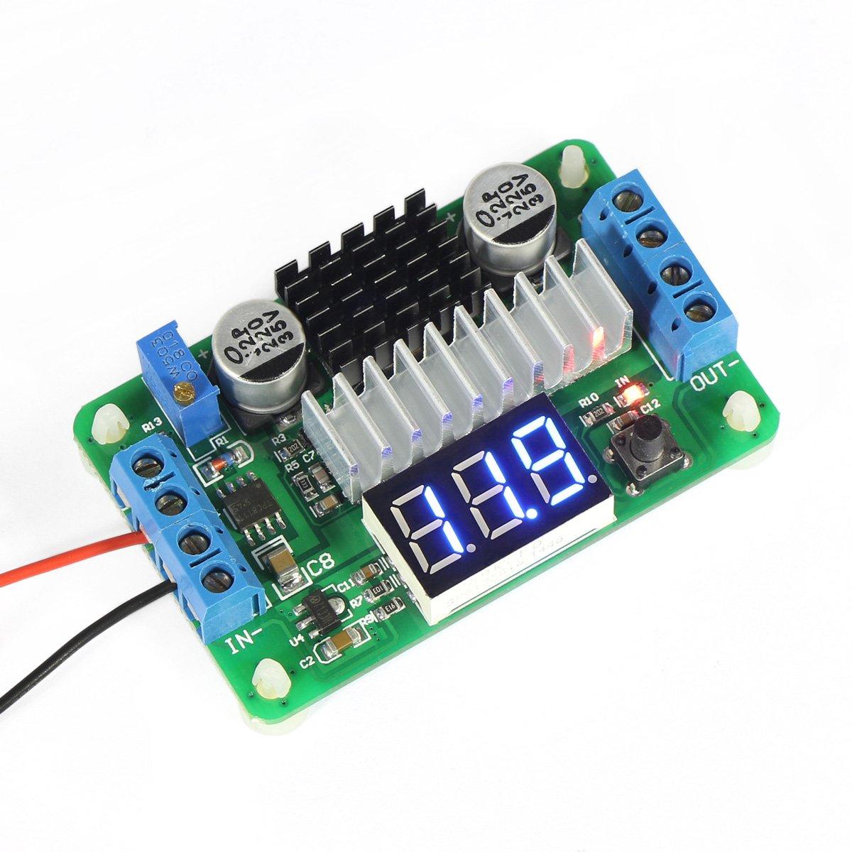 DROK LTC1871 3.5V-30V DC Boost Converter Power Transformer Voltage Regulator 5V/12V Step Up Volt Module Power Supply Board for Car Auto Motor Motorcycle Automotive etc