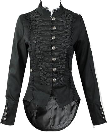 H & R Mujer Steampunk gótico desfile abrigo largo de cola: Amazon.es: Ropa y accesorios