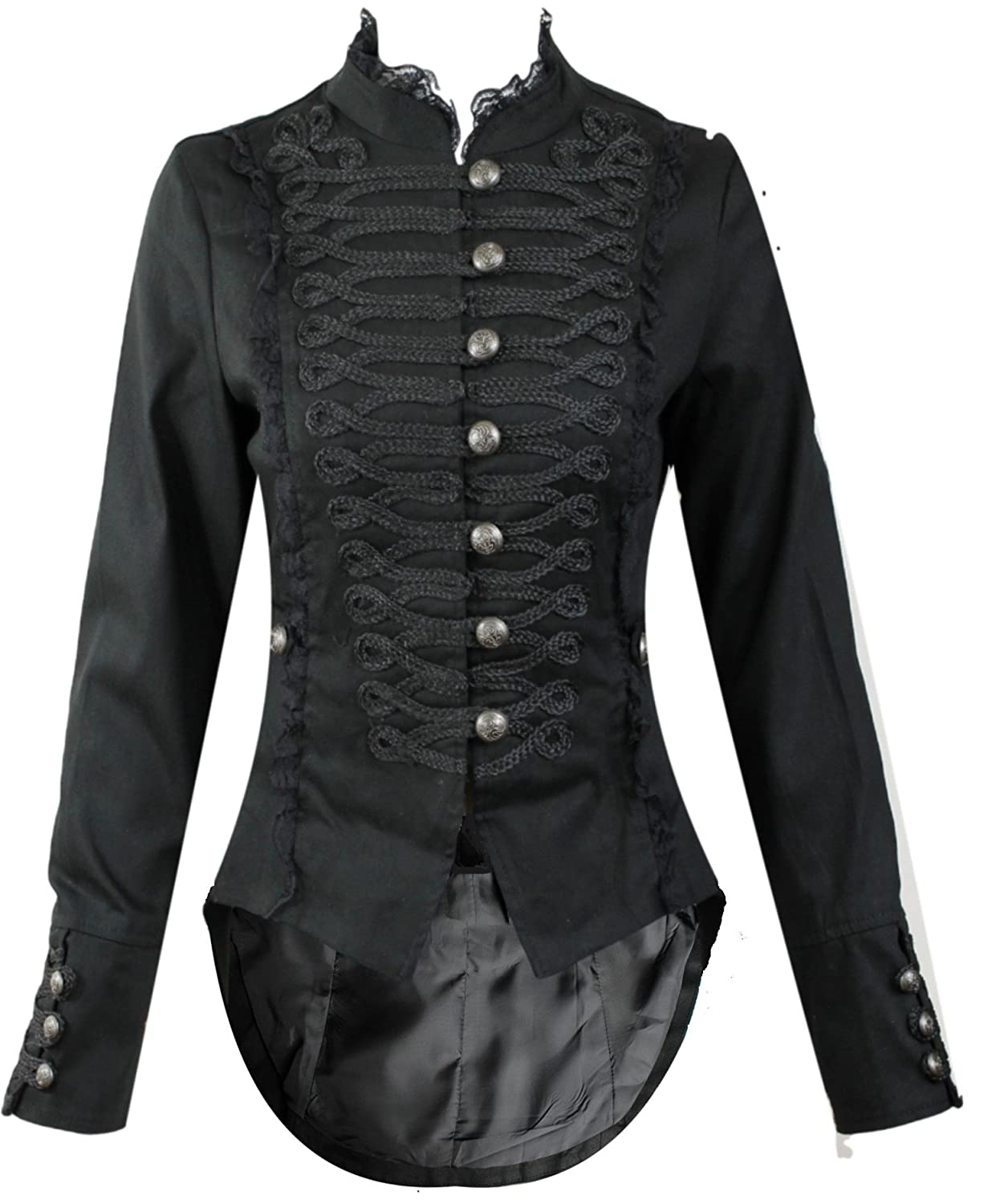 Steampunk Jackets Womens H&R Steampunk Gothic Parade Tail Coat  AT vintagedancer.com