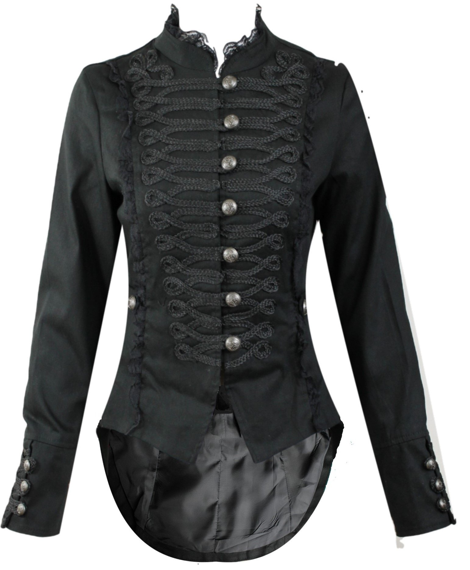 Hearts and Roses H&R Women's Steampunk Gothic Parade Long Tailcoat (US 4)