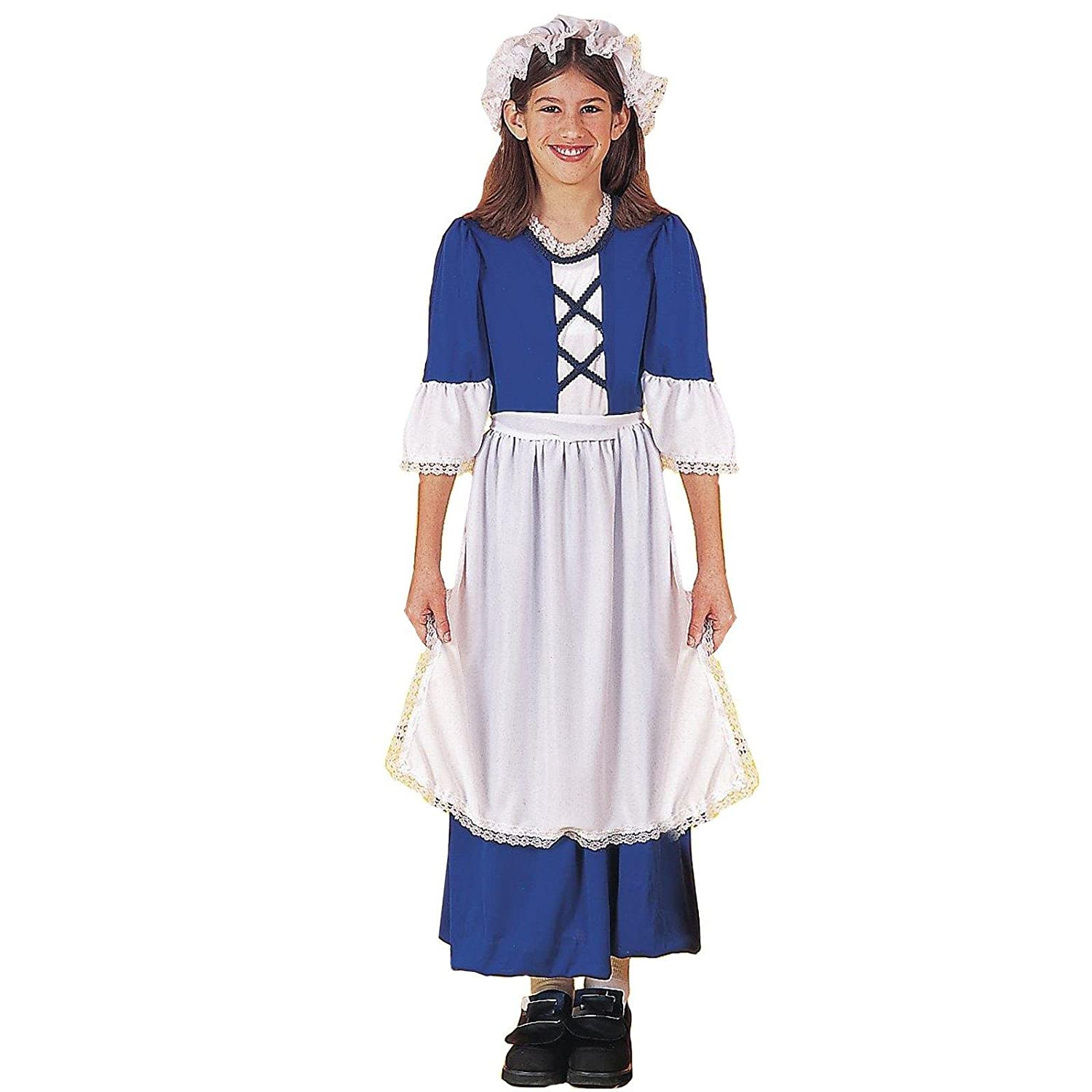 Download image 1700s woman portrait pc android iphone and ipad - Amazon Com Forum Novelties Colonial Girl Costume Child S Small Toys Games