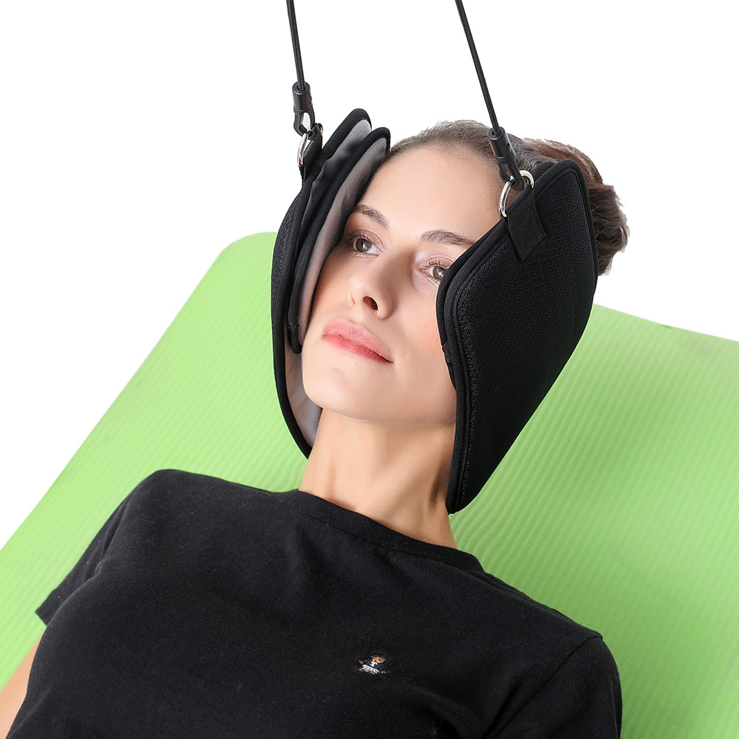Hammock for Neck - Portable Neck and Shoulder Pain Relief Cervical Traction Device - Adjustable Relax Neck Massager Attach to Door Or Railing