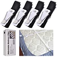 eZAKKA Bed Sheet Fasteners Suspenders Straps Adjustable Fitted Sheet Bed Clips Grippers Mattress Pad Cover Corner Holders Bands