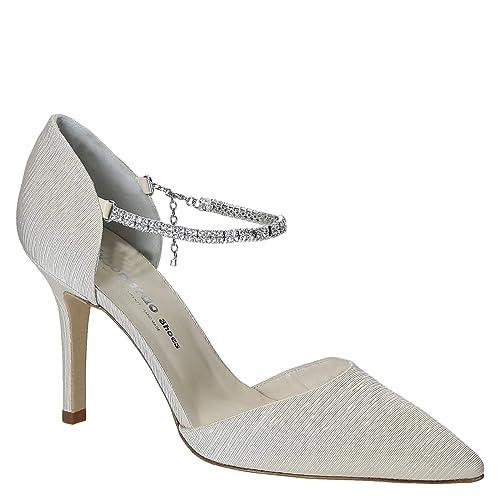 Scarpe Sposa Raso Bianco.Scarpe Da Sposa Artigianali In Raso Bianco Codice Modello S2713