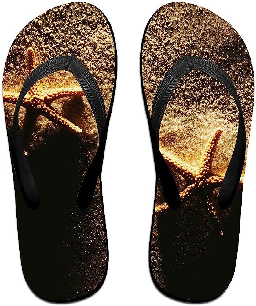 Couple Slipper Starfish Sunrise Sand Beaches Print Flip Flops Unisex Chic Sandals Rubber Non-Slip House Thong Slippers