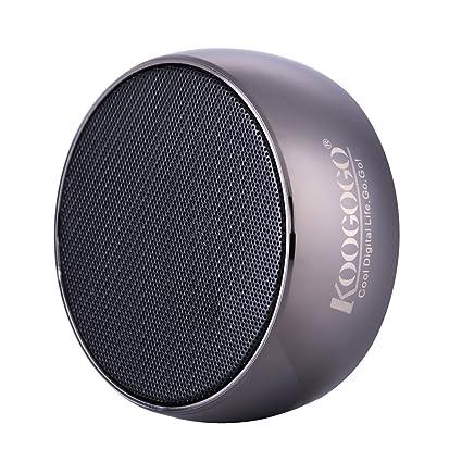 koogogo BS01 inalámbrico Bluetooth Altavoz, Metal caso potente Mini al aire libre Altavoz con micrófono