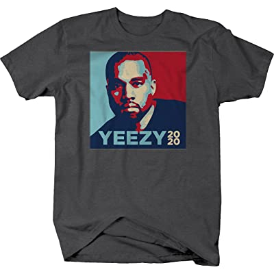 556 Gear Yeezy 2020 Kanye West President Trump Tshirt - Large Graphite: Automotive