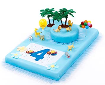 decoracin para tartas zoo animales cumpleaos nio piezas tarta cumpleaos