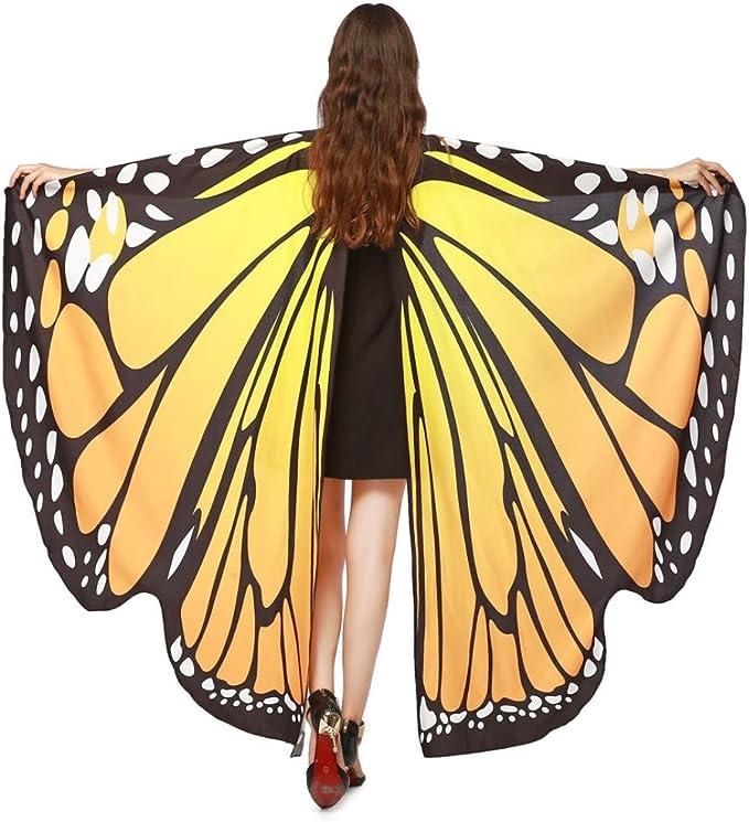 Lnefehsh Disfraz de Alas de Mariposa para Mujer,Lenfesh Adulto ...