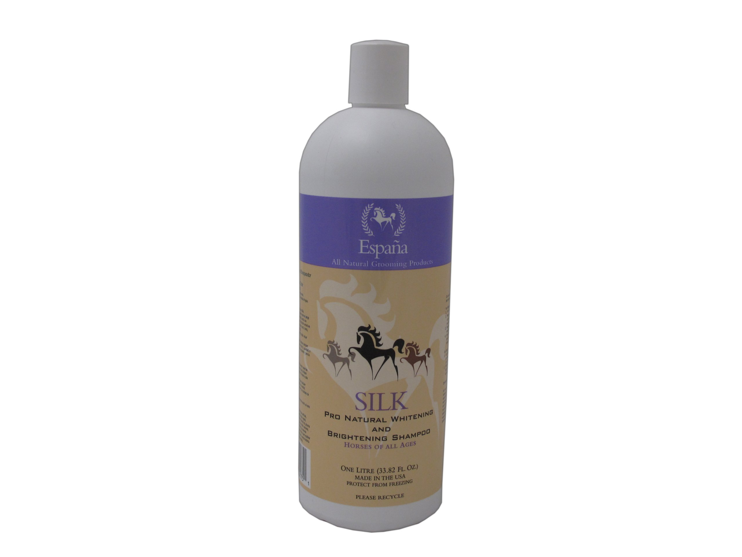 Espana Silk ESP0320E Specially Formulated Silk Pro Whitening and Brightening Shampoo for Horses, 33.82-Ounce