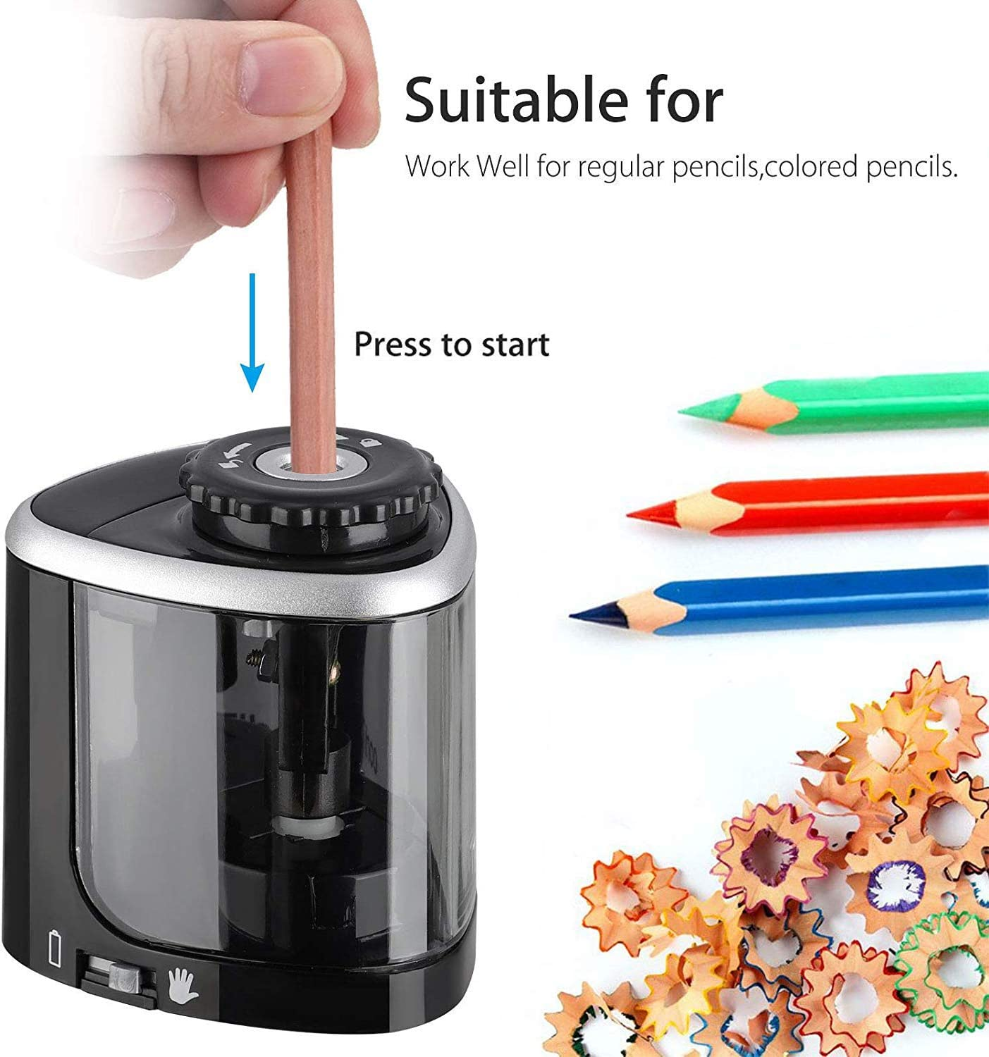 3 Modes Automatic Electric Battery Kids Operated Desktop Sharpener School P D3L4