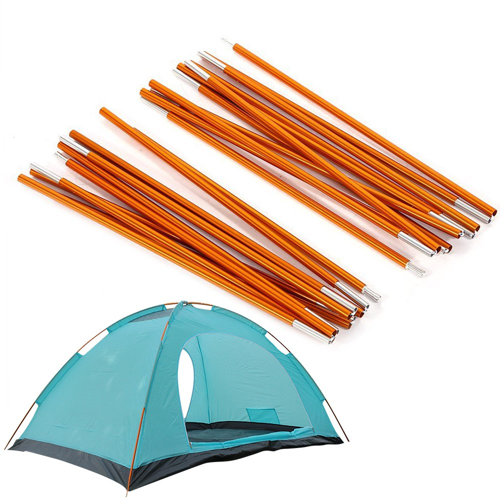 2pcs Aluminum Alloy Tent Pole Support Replacement Accessory for Camping Hiking, 142 inch/pc (Style 1) by ZJchao