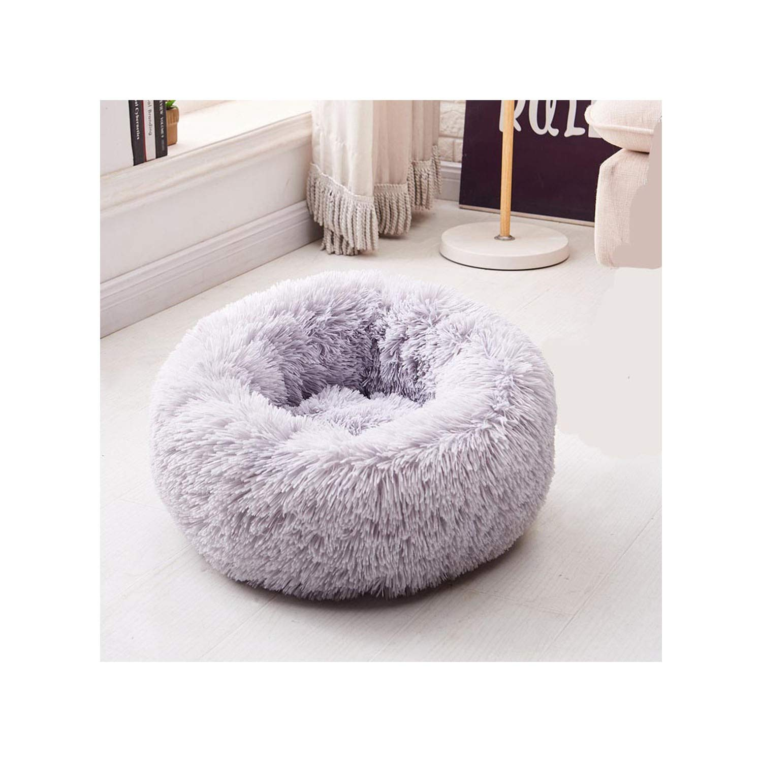 Fantastic Amazon Com Round Dog Bed Washable Pet Cat Bed Dog Squirreltailoven Fun Painted Chair Ideas Images Squirreltailovenorg