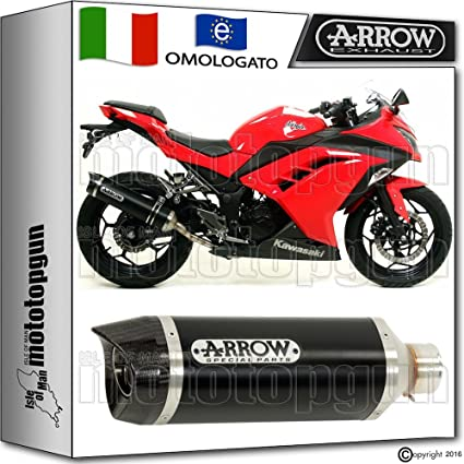 Arrow Terminal Hom Thunder Aluminio Dark Carby Kawasaki ...