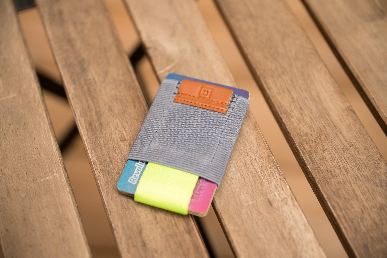 Cartera Billetera Minimalista Azul y Lima | Cartera para hombre fina y pequeña | Tarjetero sencillo | Billetera pequeña para hombre y mujer | NUEVOS MODELOS ...