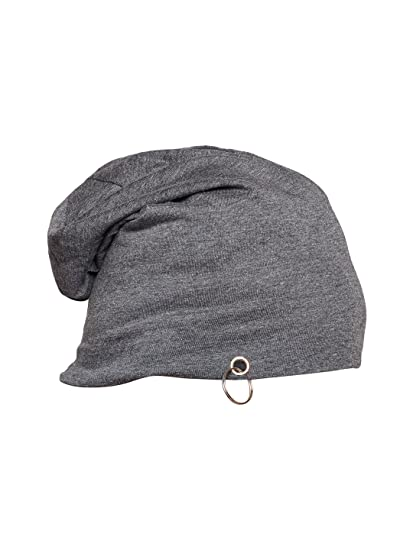 Vimal Dark Grey Cotton Blended Free Size Beanie Cap For Men  Amazon ... 763d3d3e30d