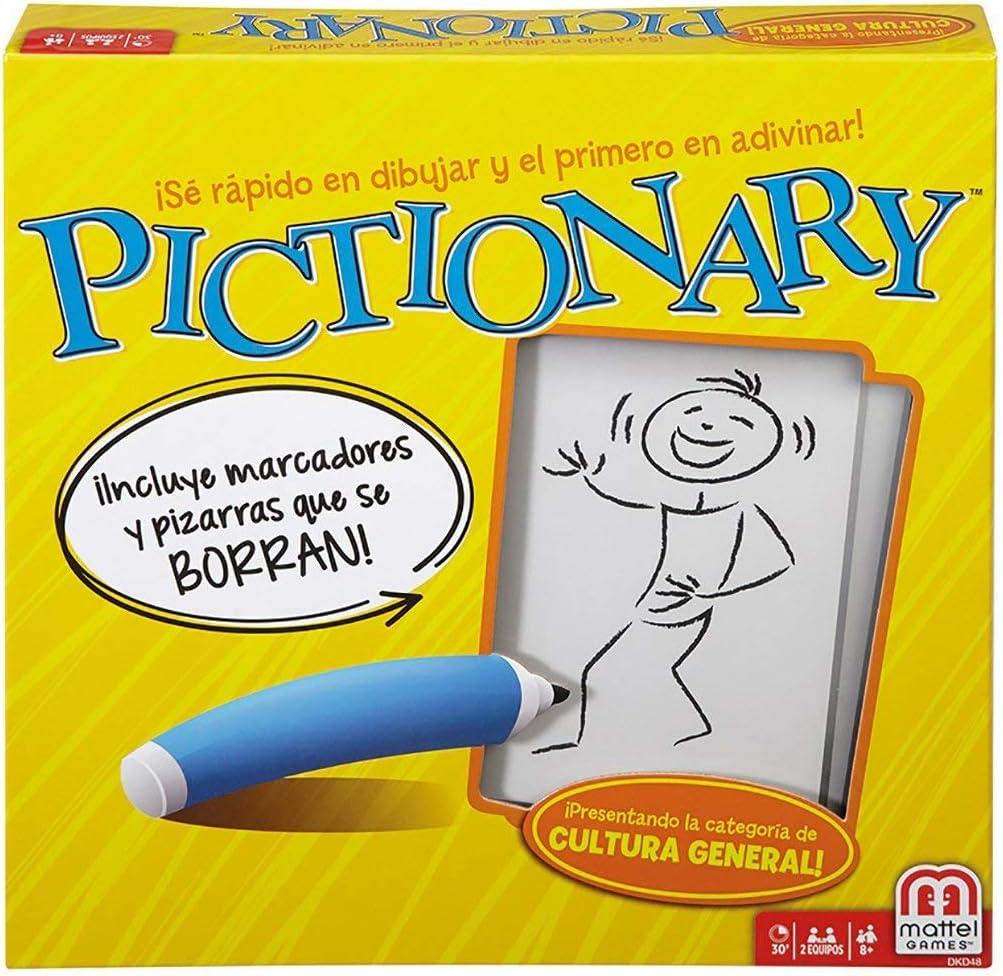 Mattel Pictionary, ¡con Pizarra Y Rotuladores Borrables!: Amazon.es: Juguetes y juegos