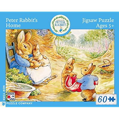 New York Puzzle Company - Beatrix Potter Peter Rabbit's Home - 60 Piece Jigsaw Puzzle: Toys & Games