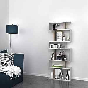 Bravo Home Tablero Bookcase, Walnut/White