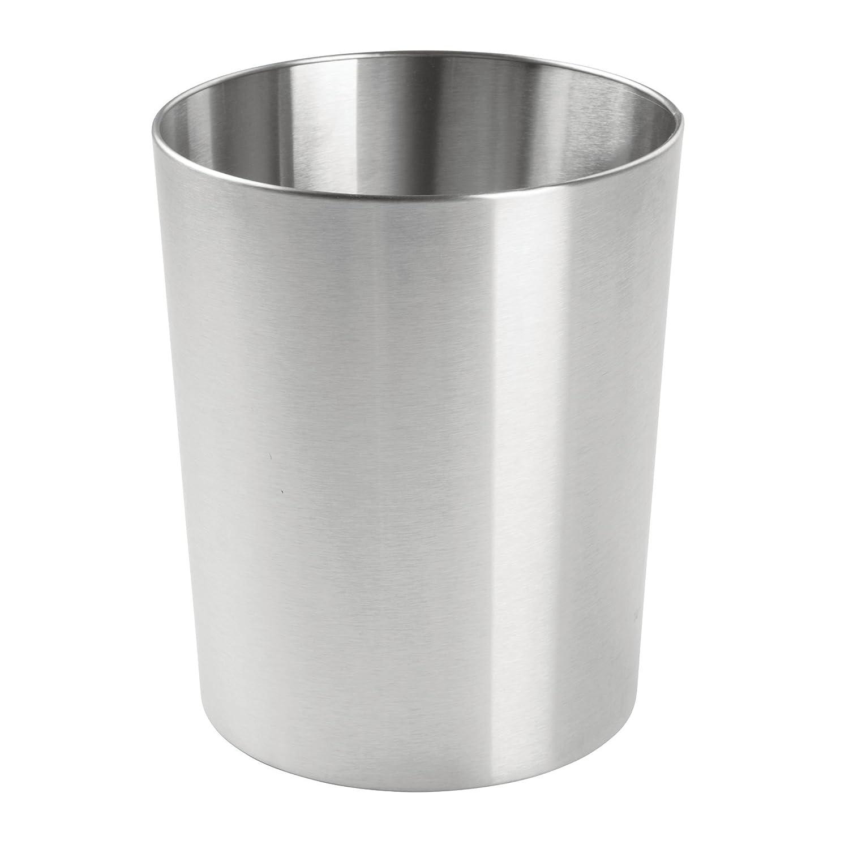 mDesign cestino spazzatura in metallo – perfetto sia come cestino gettacarte che per la raccolta rifiuti – per cucina, bagno, ufficio, camera – design moderno camera - design moderno MetroDecor 6278MDBA