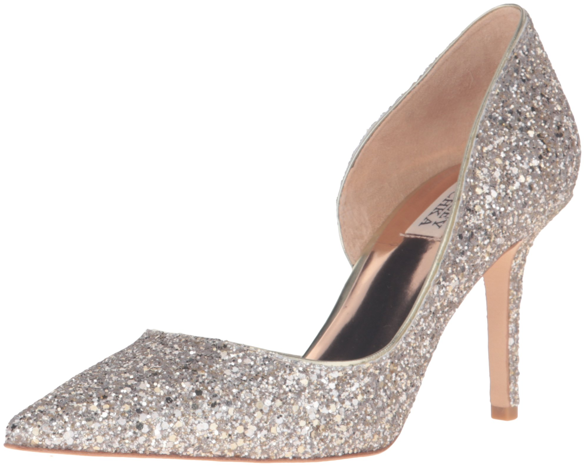 Badgley Mischka Women's Daisy Dress Pump, Platino, 5.5 M US by Badgley Mischka