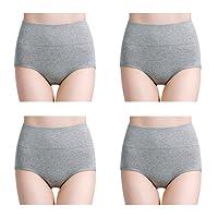 Wirarpa Womens Soft Cotton Underwear Briefs High Waist Full Panties Multipack