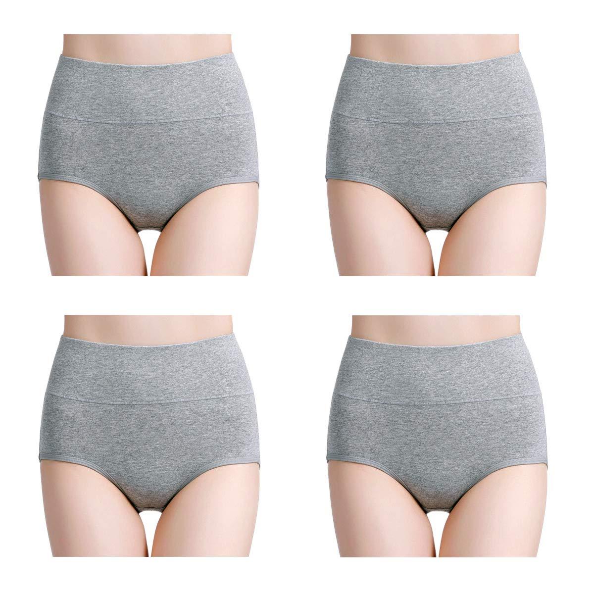 a5d8404576fee Wirarpa Women s Soft Cotton Underwear Briefs High Waist Full Panties