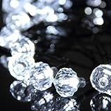OxyLED® Y18 Striscia Luce ad Energia Solare, 20 LED, Forma di Diamante Strass, Luce Bianco, 100LM, Ideale per Decorazione Natale, Festa, Nozze