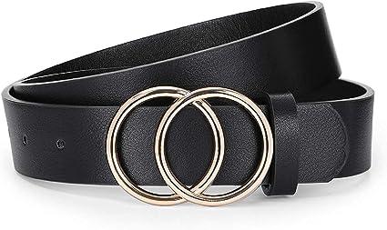 Slim Leather Belt for Dress Classic Leather Black Belt HAYA Black Leather Jeans Belt Women Leather Belt Black Waist Belt