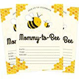 Amazon bumble bee baby shower invitations fill in style 20 mommy to bee bumble bee gender neutral yellow baby 5x7 baby shower invites filmwisefo