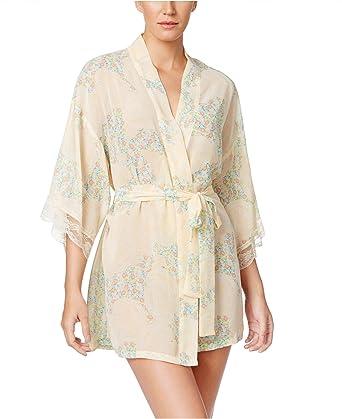 Flora Nikrooz Flora Women s Chiffon Floral-Print Kimono Robe (Small Medium 51b87325b