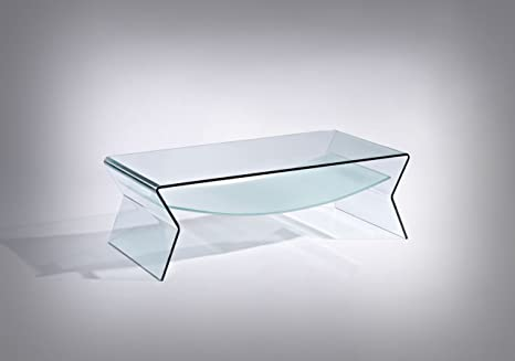 Outlet tavolino in vetro curvato nero berto shop