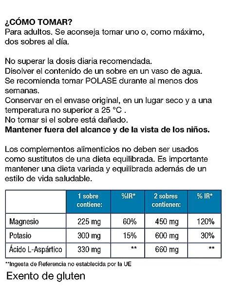 Polase, Complemento Alimenticio con Magnesio y Potasio, 24 sobres granulados: Amazon.es: Salud y cuidado personal