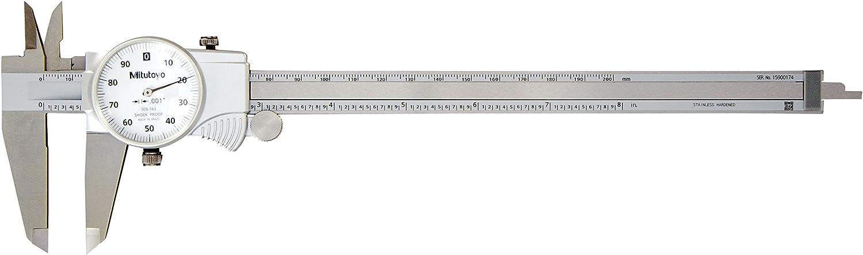 MITUTOYO 505-743 Dial Caliper,0-8 In,Dial B