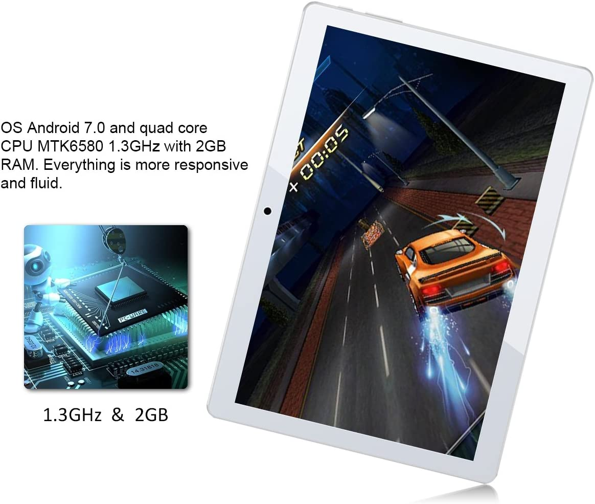 Inch Android Tablet PADGENE M10 2GB RAM 32GB Storage Phablet Tablet Quad Core Tablets Dual Camera Sim Card Slots Wifi GPS Bluetooth Google Play