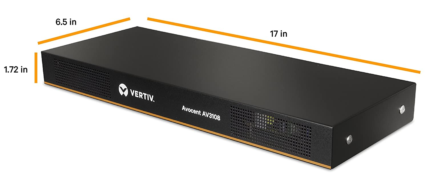 Avocent AV3108 8-Port KVM Over IP Switch with CAC Rackmount
