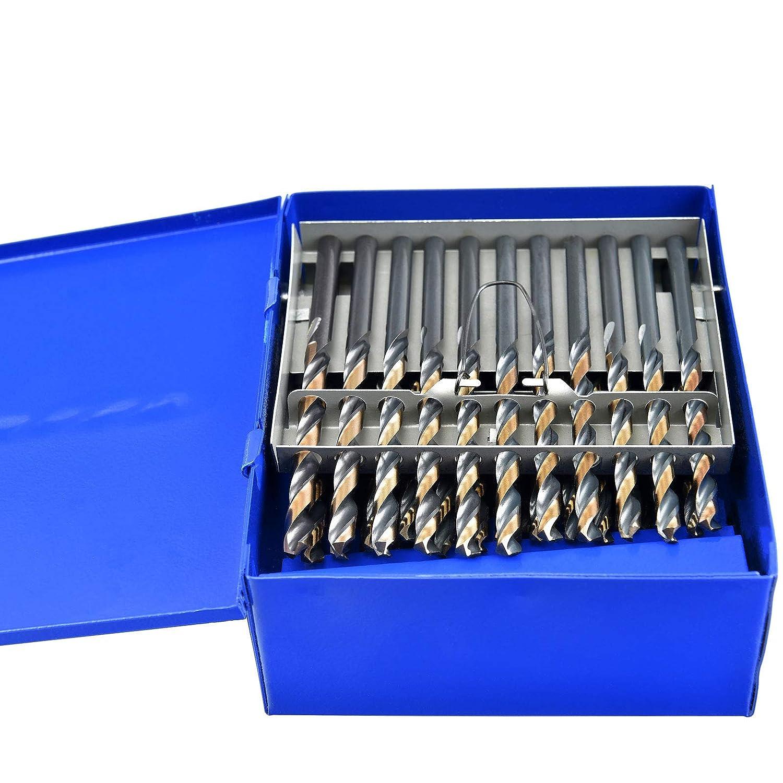 30x6 Dia 0.1285 Wire Gauge 60PCs Aircraft Twist Drill Bits HSS M2; ACN02B06R30P60 MAXTOOL No