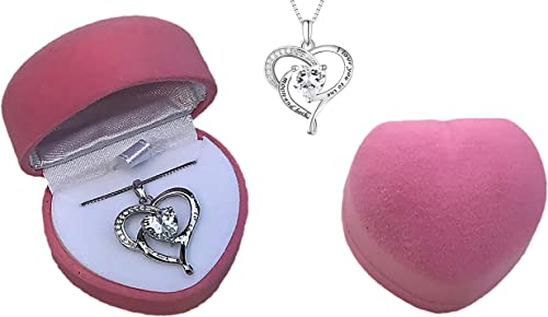 925 I love you to the Moon and back charm on a 925 box chain