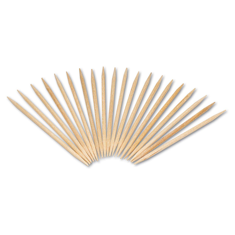 Royal R820 Round Wood Toothpicks, 2 1/2'', Natural, 19200/Carton