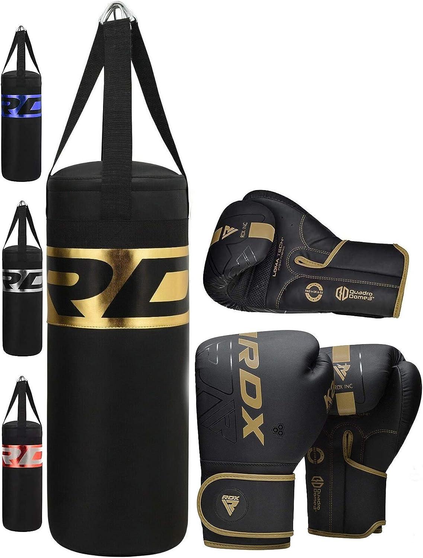 2Ft Boxing Punch Bag Filled Gloves Kids Martial Arts Gym Training Fitness Set