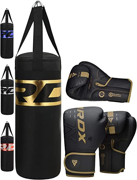 BJJ and Taekwondo Karate Punching Muay Thai Grappling MMA Martial Arts RDX Kids Punch Bag and Gloves 2ft Set for Boxing Training Junior Filled Heavy Bag Set Youth Kickboxing