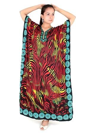 b6612a9c0fb Miss Lavish Kaftan Tunic Kimono Dress Ladies Summer Women Evening Maxi  Party Plus Size 14-18 at Amazon Women s Clothing store