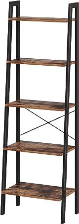 Oferta amazon: VASAGLE LLS45X - Estantería de pie con 5 estantes, con Marco de Metal, fácil Montaje, para salón, Dormitorio, Cocina, 56 x 172 x 34 cm (Ancho x Alto x Profundidad), diseño Vintage