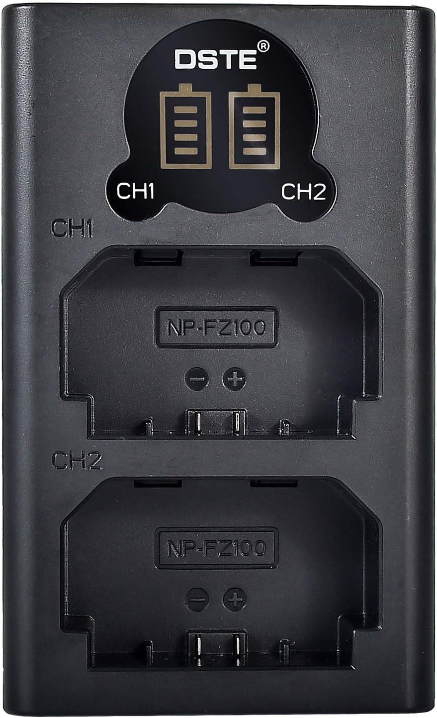 Alpha a9R /α7R III /α7R3 Alpha 9R Alpha 9S Digital Cam/éra Alpha 9 DSTE Double Chargeur USB avec /écran LCD pour NP-FZ100 FZ100 et Sony A7R3 Alpha a9S A7R III