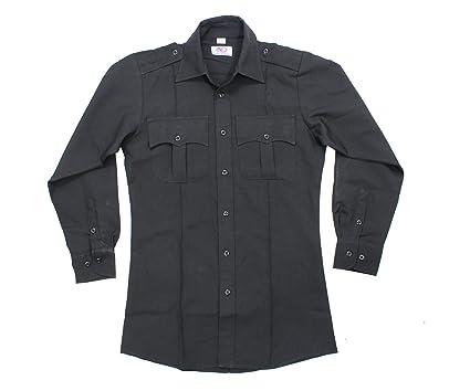 af415c7fb551 Amazon.com: First Class 100% Polyester Long Sleeve Men's Uniform Shirt  Black: Civil Service Uniforms Shirts: Clothing