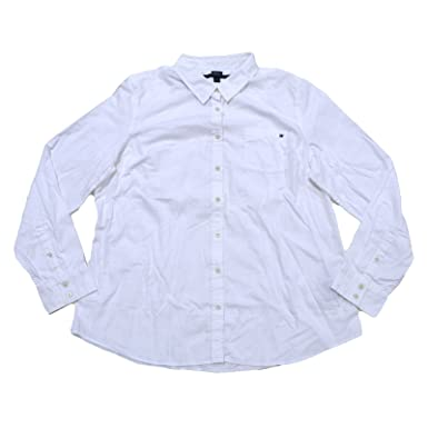 955767a2c Tommy Hilfiger Womens Long Sleeve Poplin Shirt at Amazon Women's ...