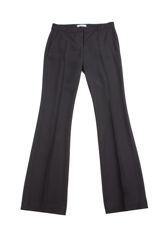 2d66b3494b5b1 Prada Women's Acetate Viscose Blend Slim Fit Pants Black at Amazon ...